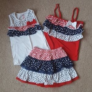 Other - 3 Piece Stars and Stripes Outfit